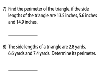Perimeter of a Triangle | Decimals