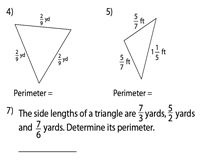 Perimeter of a Triangle | Fractions