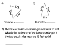 Perimeter Of A Triangle Worksheets