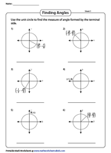 Unit Circle Worksheets