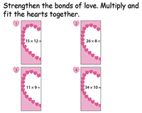 Valentine's Day Multiplication | Cut and Paste