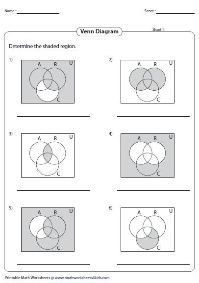venn diagram worksheets. Black Bedroom Furniture Sets. Home Design Ideas