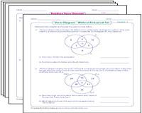 Venn diagram worksheets venn diagram word problems three circles ccuart Image collections