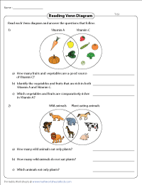 type1 preview venn diagram word problems worksheets two sets