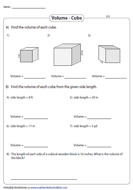 Volume of Cubes | Integers - Easy