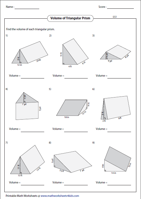 how to work out the volume of a rectangular prism