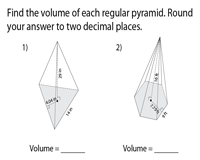 Finding Volume of Polygonal Pyramids using Apothem | Level 1