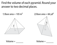 Finding Volume using Base Area | Integers
