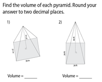 Volume of Pyramids | Level 1 - Integers - Moderate