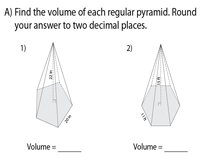 Volume of Polygonal Pyramids using Side length or Perimeter | Level 2