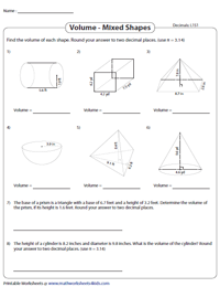 Find the Volume of Mixed Shapes - Level 1 | Decimals