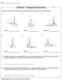 Find the Volume of Triangular Pyramids | Easy