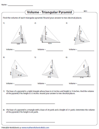 Find the Volume of Triangular Pyramids | Moderate
