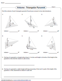 Finding the Volume of Triangular Pyramids | Unit Conversion