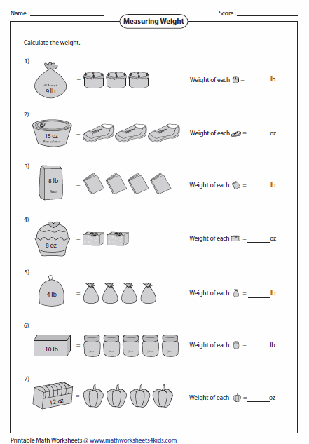 weight worksheets. Black Bedroom Furniture Sets. Home Design Ideas
