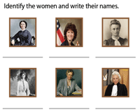 Identify the famous women in history