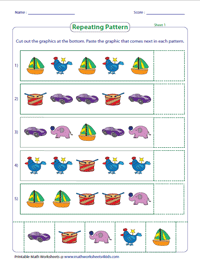 Repeating Patterns | Cut and Glue Activity