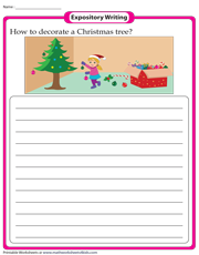 Decorating a Christmas Tree | Expository Writing Prompt